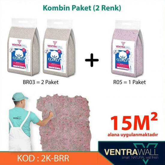 2 Kombine Renk Duvar Boyası Ventrawall 2K-BRR
