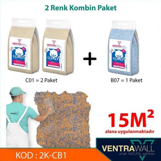 2 Kombine Renk Duvar Boyası Ventrawall 2K-CB1