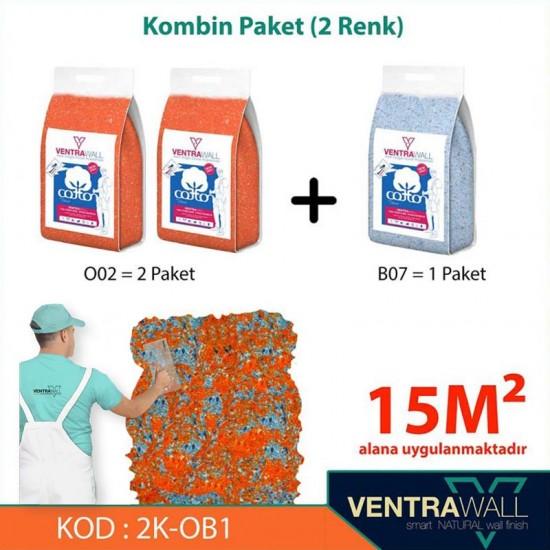 2 Kombine Renk Duvar Boyası Ventrawall 2K-OB1