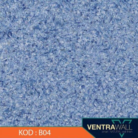 Mavi Kokusuz Duvar Boyası Ventrawall  B04
