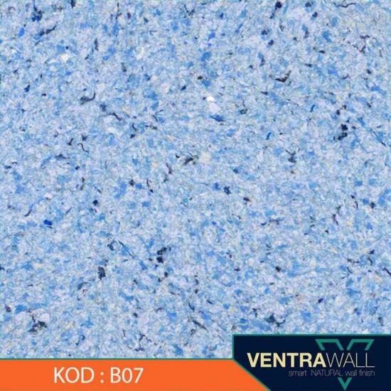 Mavi Renk Duvar Boyası Ventrawall B07