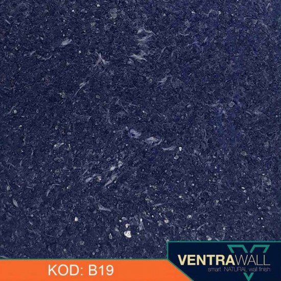 Mavi Renk Kokusuz Duvar Boyası Ventrawall B19