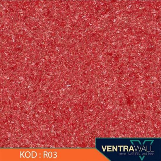 Kırmızı Renk Duvar Boyası Ventrawall R03