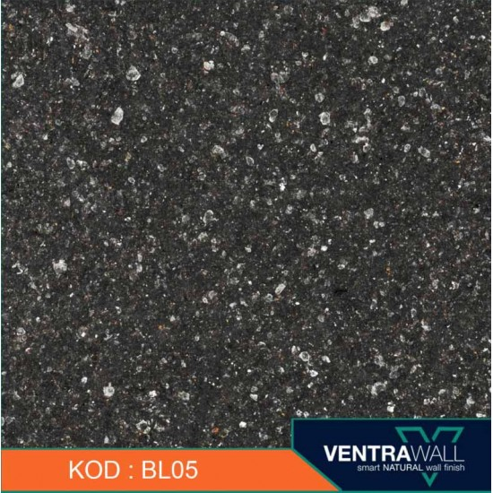 Siyah Duvar Boyası Ventrawall Siyah BL05