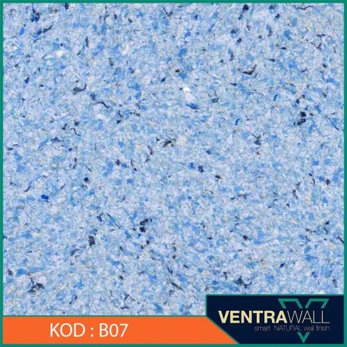 Canlı Sıva Duvar Boyası Mavi B07