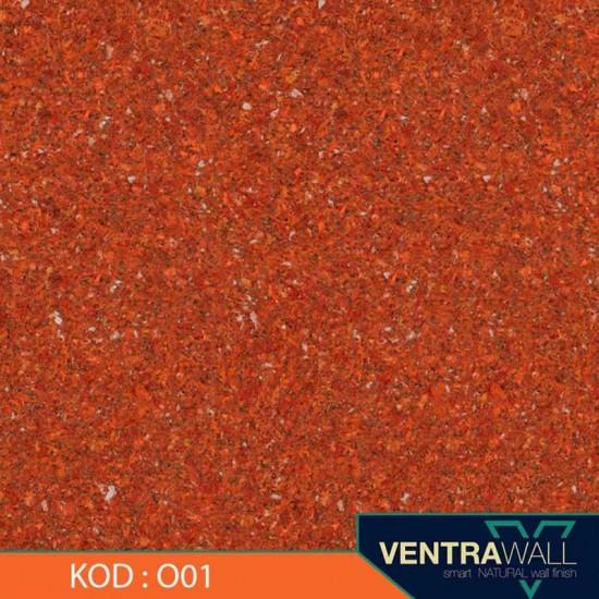 Turuncu Renk Duvar Boyası Ventrawall O01