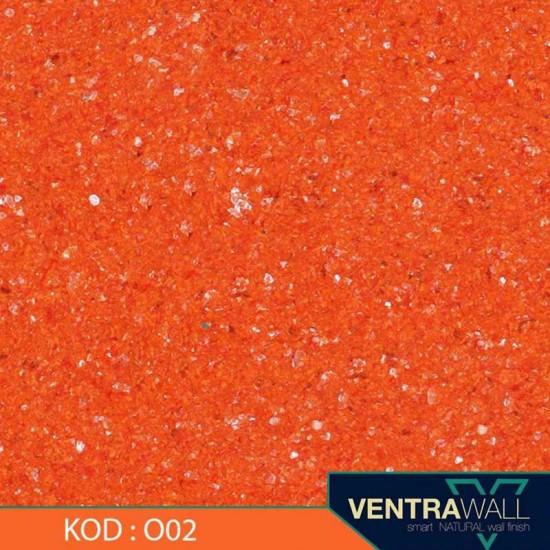 Turuncu Renk Duvar Boyası Ventrawall O02